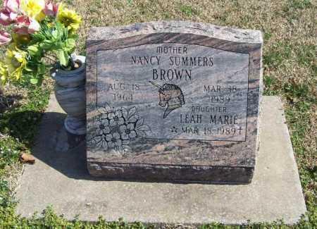 BROWN, LEAH MARIE - Benton County, Arkansas | LEAH MARIE BROWN - Arkansas Gravestone Photos