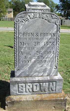 BROWN, ORRIN S - Benton County, Arkansas | ORRIN S BROWN - Arkansas Gravestone Photos