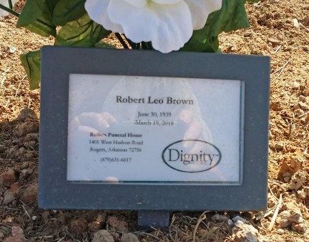 BROWN, ROBERT LEO - Benton County, Arkansas | ROBERT LEO BROWN - Arkansas Gravestone Photos
