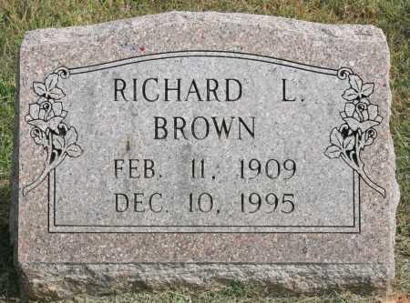 BROWN, RICHARD L. - Benton County, Arkansas | RICHARD L. BROWN - Arkansas Gravestone Photos
