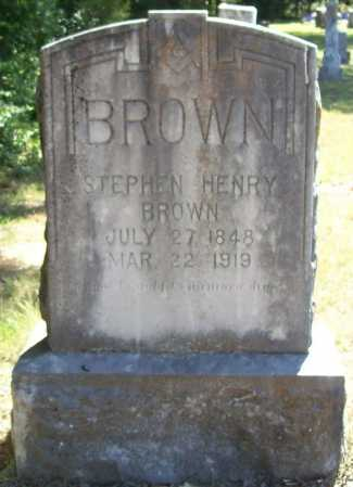 BROWN, STEPHEN HENRY - Benton County, Arkansas | STEPHEN HENRY BROWN - Arkansas Gravestone Photos