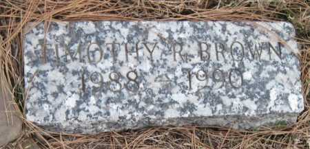 BROWN, TIMOTHY R - Benton County, Arkansas | TIMOTHY R BROWN - Arkansas Gravestone Photos