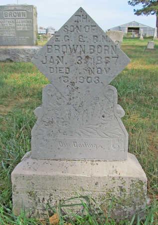 BROWN, T H - Benton County, Arkansas | T H BROWN - Arkansas Gravestone Photos