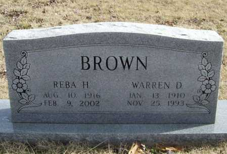 BROWN, REBA - Benton County, Arkansas | REBA BROWN - Arkansas Gravestone Photos