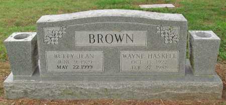 BROWN, WAYNE HASKELL - Benton County, Arkansas | WAYNE HASKELL BROWN - Arkansas Gravestone Photos