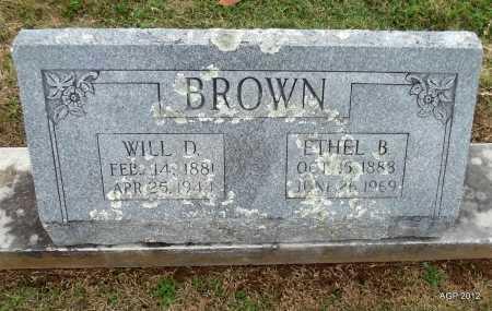 BROWN, WILL D. - Benton County, Arkansas | WILL D. BROWN - Arkansas Gravestone Photos