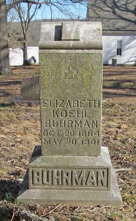 BUHRMAN, ELIZABETH KOEHL - Benton County, Arkansas   ELIZABETH KOEHL BUHRMAN - Arkansas Gravestone Photos