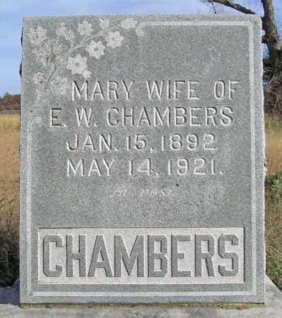 ANDERSON CHAMBERS, MARY - Benton County, Arkansas | MARY ANDERSON CHAMBERS - Arkansas Gravestone Photos