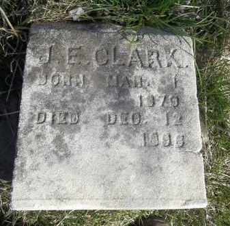 CLARK, J. E. - Benton County, Arkansas | J. E. CLARK - Arkansas Gravestone Photos