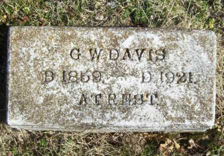 DAVIS, GEORGE W - Benton County, Arkansas | GEORGE W DAVIS - Arkansas Gravestone Photos