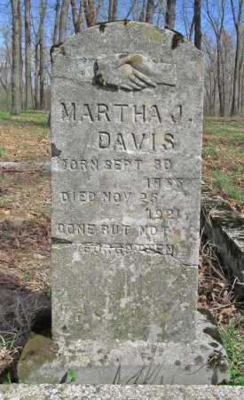 DAVIS, MARTHA JANE - Benton County, Arkansas   MARTHA JANE DAVIS - Arkansas Gravestone Photos