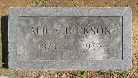 DICKSON, ALICE - Benton County, Arkansas | ALICE DICKSON - Arkansas Gravestone Photos
