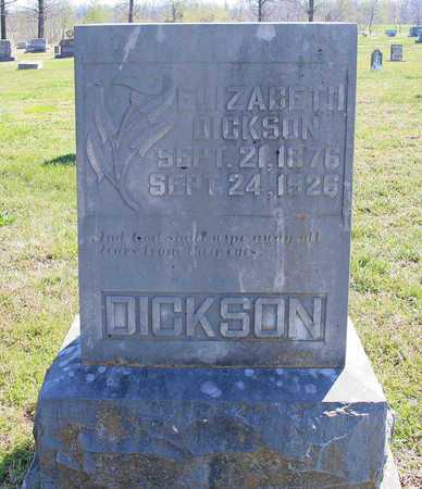 DICKSON, NANCY ELIZABETH - Benton County, Arkansas | NANCY ELIZABETH DICKSON - Arkansas Gravestone Photos