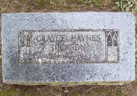 DICKSON, GRAYCE - Benton County, Arkansas | GRAYCE DICKSON - Arkansas Gravestone Photos