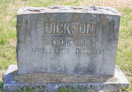 DICKSON, GEORGE J - Benton County, Arkansas | GEORGE J DICKSON - Arkansas Gravestone Photos