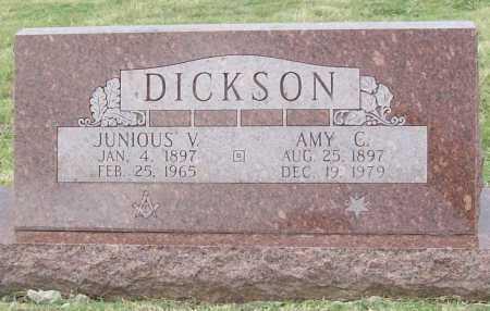 DICKSON, JUNIOUS VIRGIL - Benton County, Arkansas | JUNIOUS VIRGIL DICKSON - Arkansas Gravestone Photos