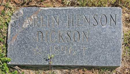 DICKSON, SPARLIN - Benton County, Arkansas | SPARLIN DICKSON - Arkansas Gravestone Photos