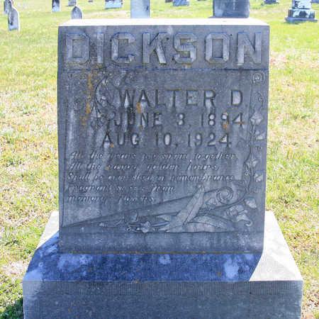 DICKSON, WALTER D - Benton County, Arkansas   WALTER D DICKSON - Arkansas Gravestone Photos
