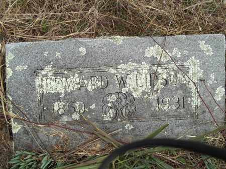 EIDSON, EDWARD W - Benton County, Arkansas   EDWARD W EIDSON - Arkansas Gravestone Photos