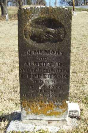EPPERSON, ALBERT D - Benton County, Arkansas   ALBERT D EPPERSON - Arkansas Gravestone Photos
