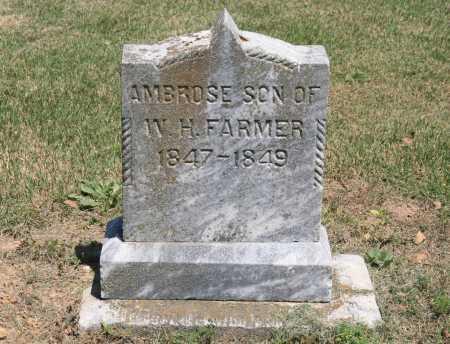 FARMER, AMBROSE - Benton County, Arkansas   AMBROSE FARMER - Arkansas Gravestone Photos
