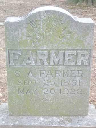 FARMER, S. A. - Benton County, Arkansas   S. A. FARMER - Arkansas Gravestone Photos