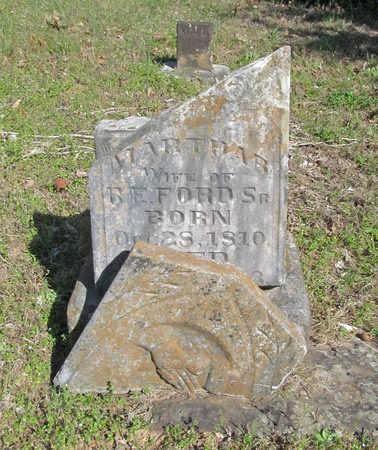 FORD, MARTHA B - Benton County, Arkansas   MARTHA B FORD - Arkansas Gravestone Photos