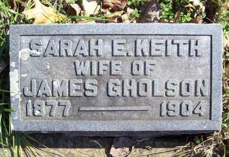 "KEITH GHOLSON, SARAH E. ""SADIE"" - Benton County, Arkansas   SARAH E. ""SADIE"" KEITH GHOLSON - Arkansas Gravestone Photos"