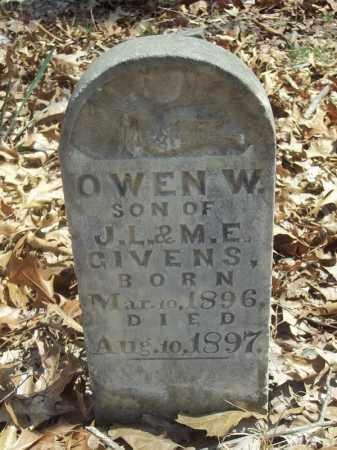 GIVENS, OWEN W. - Benton County, Arkansas | OWEN W. GIVENS - Arkansas Gravestone Photos