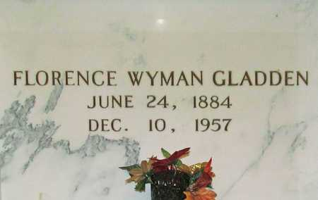 WYMAN GLADDEN, FLORENCE - Benton County, Arkansas | FLORENCE WYMAN GLADDEN - Arkansas Gravestone Photos