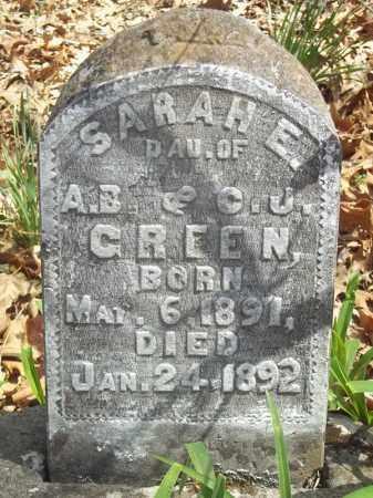 GREEN, SARAH E. - Benton County, Arkansas | SARAH E. GREEN - Arkansas Gravestone Photos