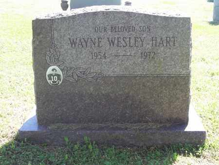 HART, WAYNE WESLEY - Benton County, Arkansas   WAYNE WESLEY HART - Arkansas Gravestone Photos