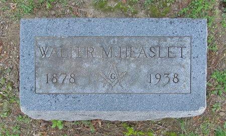 HEASLET, WALTER M - Benton County, Arkansas | WALTER M HEASLET - Arkansas Gravestone Photos