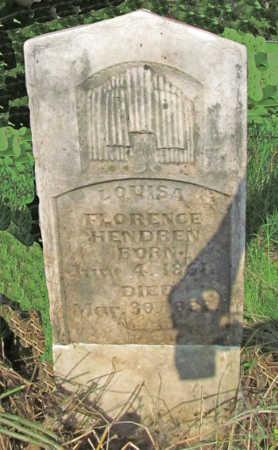 HENDREN, LOUISA FLORENCE - Benton County, Arkansas | LOUISA FLORENCE HENDREN - Arkansas Gravestone Photos