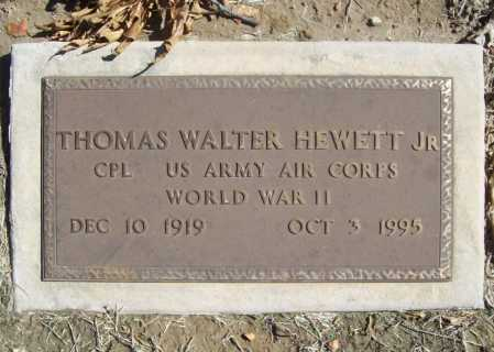 HEWETT, JR  (VETERAN WWII), THOMAS WALTER - Benton County, Arkansas | THOMAS WALTER HEWETT, JR  (VETERAN WWII) - Arkansas Gravestone Photos