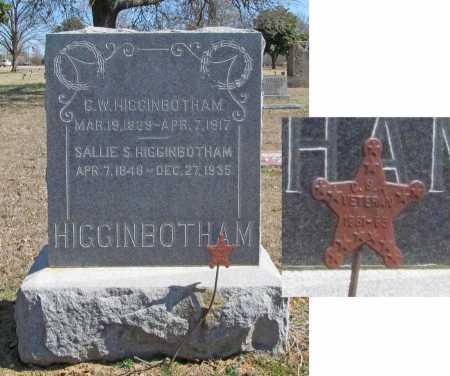SEXTON HIGGINBOTHAM, SALLIE T - Benton County, Arkansas | SALLIE T SEXTON HIGGINBOTHAM - Arkansas Gravestone Photos