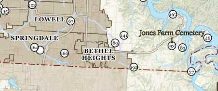 *JONES FARM CEMETERY INFO,  - Benton County, Arkansas |  *JONES FARM CEMETERY INFO - Arkansas Gravestone Photos
