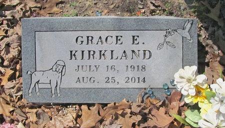 BOULTINGHOUSE KIRKLAND, GRACE E - Benton County, Arkansas | GRACE E BOULTINGHOUSE KIRKLAND - Arkansas Gravestone Photos