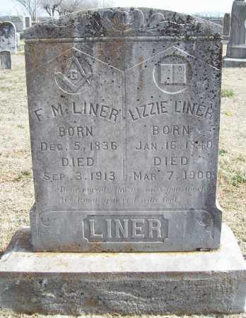 LINER, LIZZIE - Benton County, Arkansas | LIZZIE LINER - Arkansas Gravestone Photos