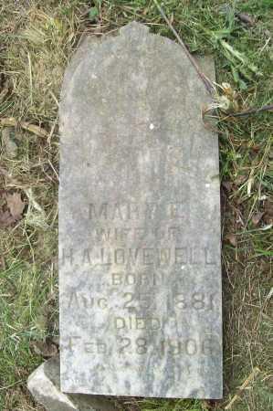 LOVEWELL, MARY E - Benton County, Arkansas   MARY E LOVEWELL - Arkansas Gravestone Photos