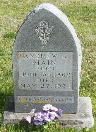 MAIN, ANDREW J - Benton County, Arkansas | ANDREW J MAIN - Arkansas Gravestone Photos