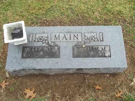 MAIN, WILLIAM M. - Benton County, Arkansas | WILLIAM M. MAIN - Arkansas Gravestone Photos