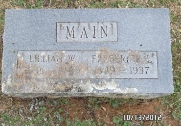 MAIN, FREDERICK L - Benton County, Arkansas | FREDERICK L MAIN - Arkansas Gravestone Photos