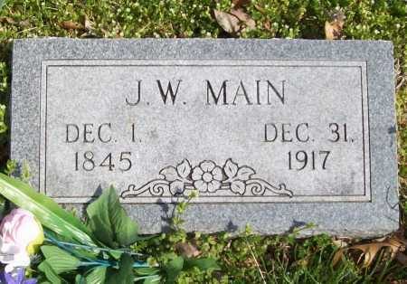 MAIN, J. W. - Benton County, Arkansas | J. W. MAIN - Arkansas Gravestone Photos
