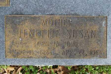 MAIN, JENETTIE SUSAN (CLOSEUP) - Benton County, Arkansas | JENETTIE SUSAN (CLOSEUP) MAIN - Arkansas Gravestone Photos