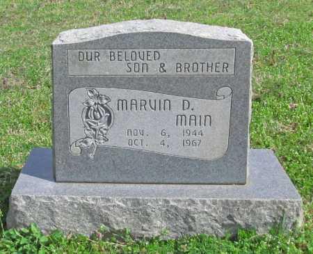 MAIN, MARVIN D. - Benton County, Arkansas   MARVIN D. MAIN - Arkansas Gravestone Photos