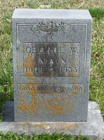 MAIN, GEORGE W. - Benton County, Arkansas | GEORGE W. MAIN - Arkansas Gravestone Photos