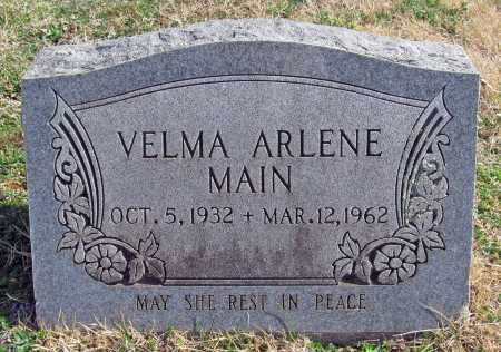 MAIN, VELMA ARLENE - Benton County, Arkansas | VELMA ARLENE MAIN - Arkansas Gravestone Photos