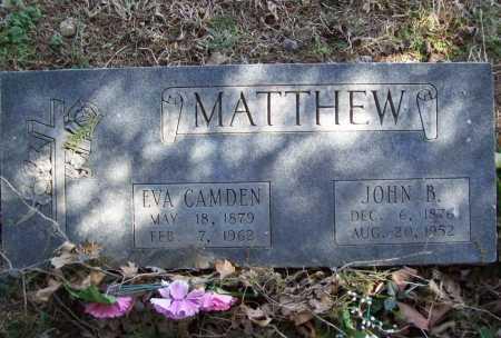 MATTHEW, JOHN B. - Benton County, Arkansas | JOHN B. MATTHEW - Arkansas Gravestone Photos