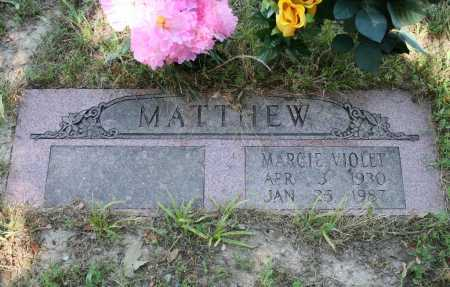MATTHEW, MARCIE VIOLET - Benton County, Arkansas | MARCIE VIOLET MATTHEW - Arkansas Gravestone Photos